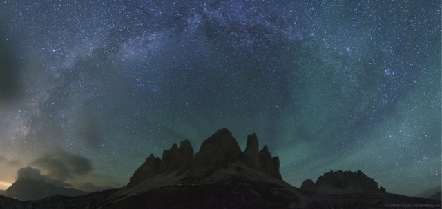 Italian Alps and airglow