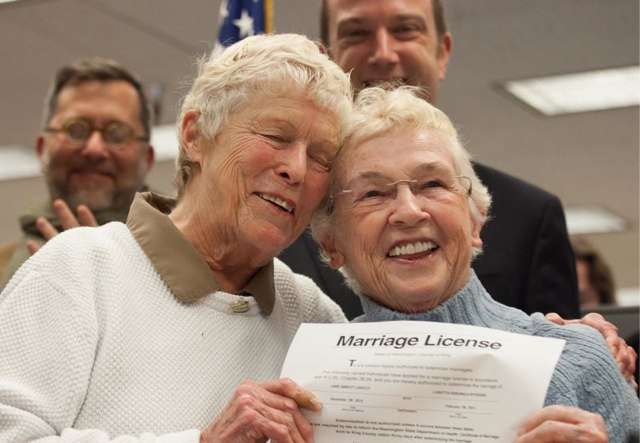 Couple with license