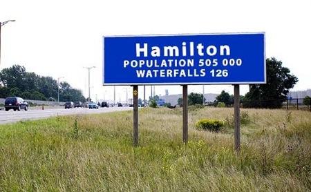 Hamilton pop sign