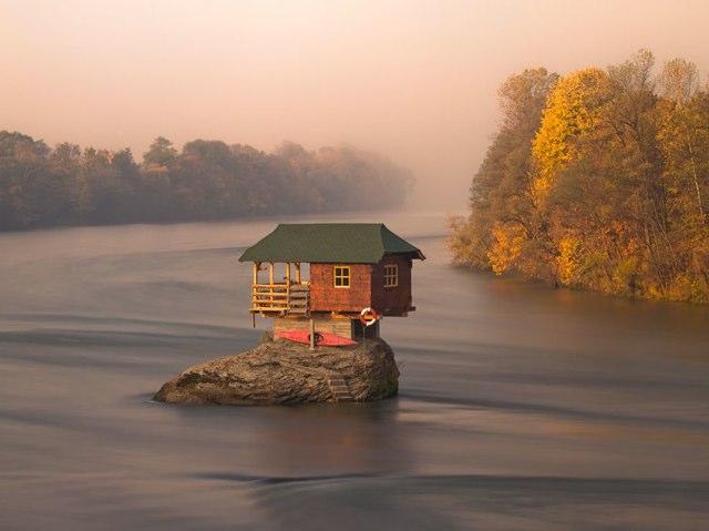 Serbian river house