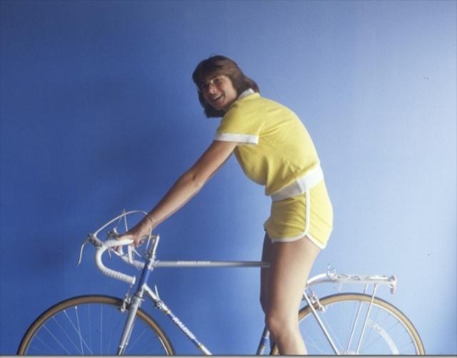 Sister on bike
