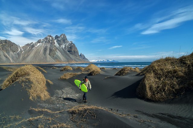 Iceland surfer