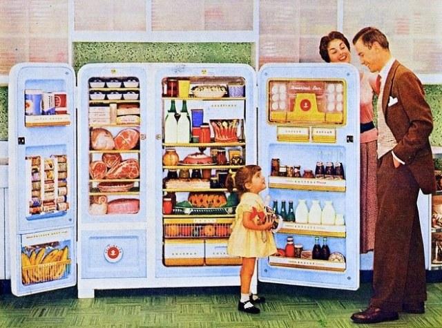 old refrigerator ad