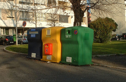 Portugal recycling bin